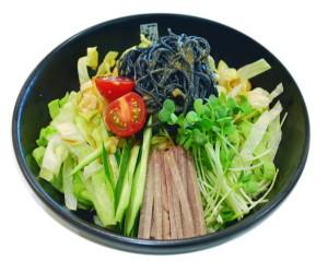 竹炭パウダー入り麺類