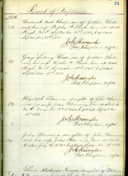 Chaplain book from Ft. Custer, Montana, 1880-1897.
