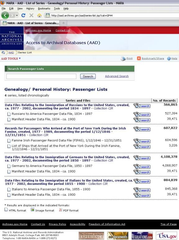 AAD search immigration