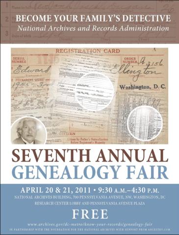 genealogy fair poster