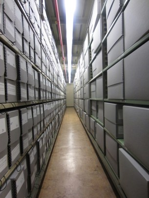 National Archives stacks