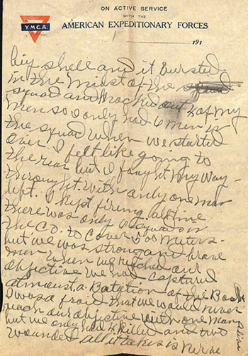 Example of World War I report
