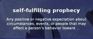any positive or negative expectation about circumstances, events, or people narcisme.blog