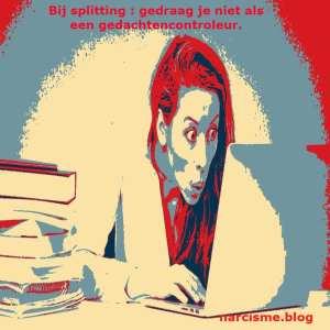 narcisme.blog bij splitting gedraag je niet als een gedachten controleur