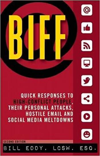 BIFF Snelle reacties op mensen met een hoog conflict, hun persoonlijke aanvallen, vijandige e-mail en uitroeiing van sociale media