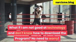 boksende vrouw voor narcisme.blog