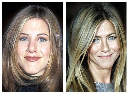 Jennifer Aniston. Before and After