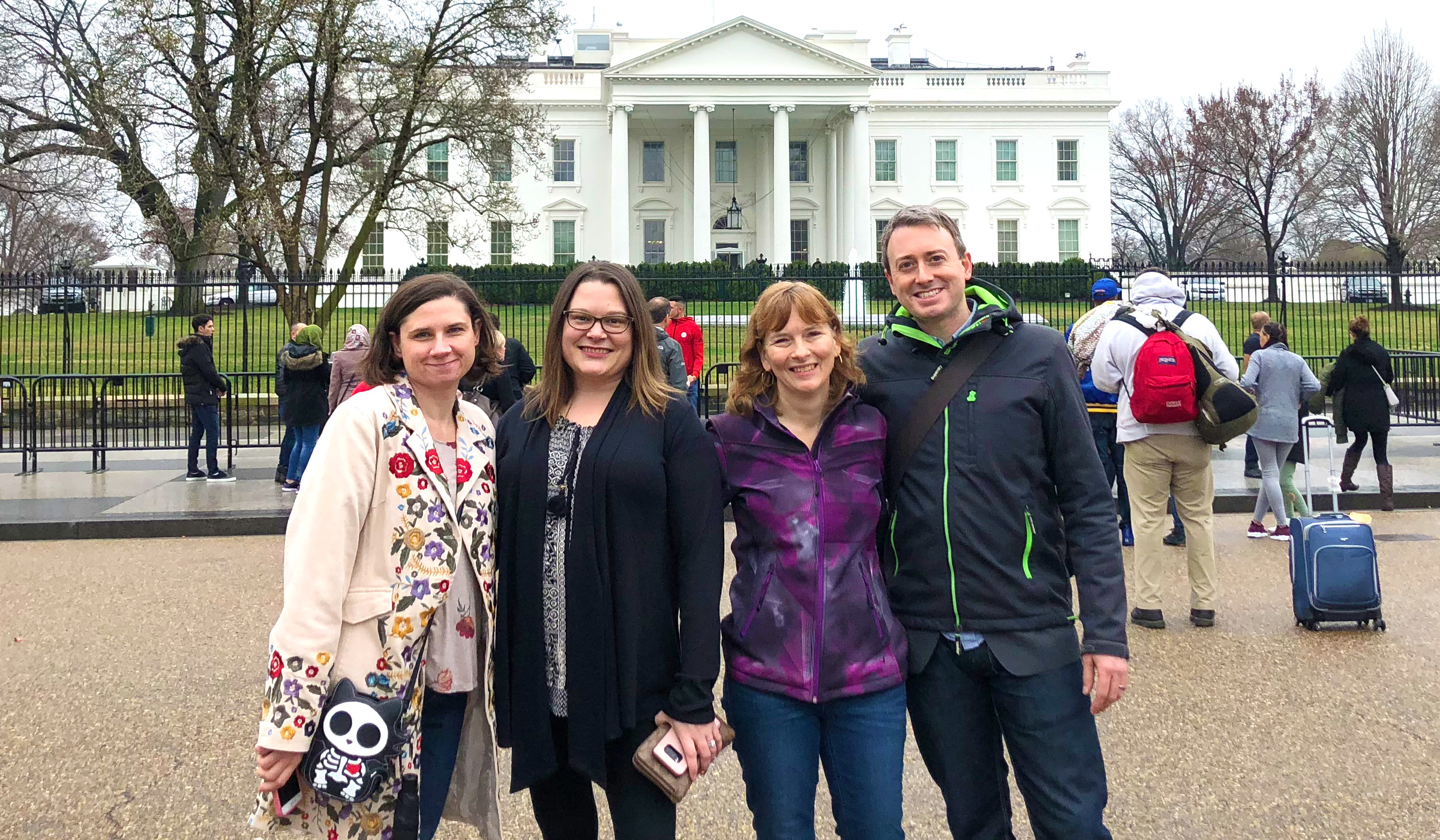 Narcolepsy advocates standing in front of the White House.