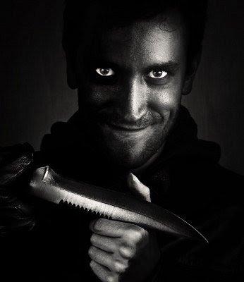 Image result for smiling knife man
