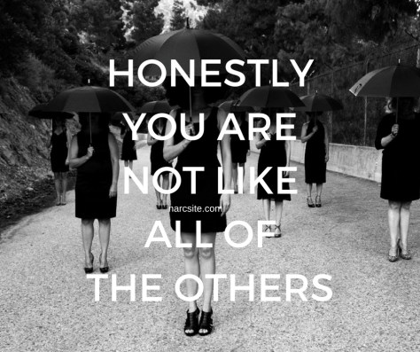HONESTLYYOU ARENOT LIKEALL OFTHE OTHERS