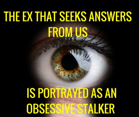 THE EX THAT SEEKS ANSWERSFROM US
