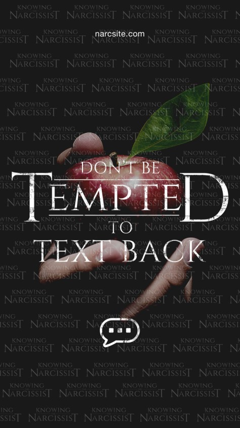 KTN Don't Be Tempted To Text Back Phone Wallpaper proof