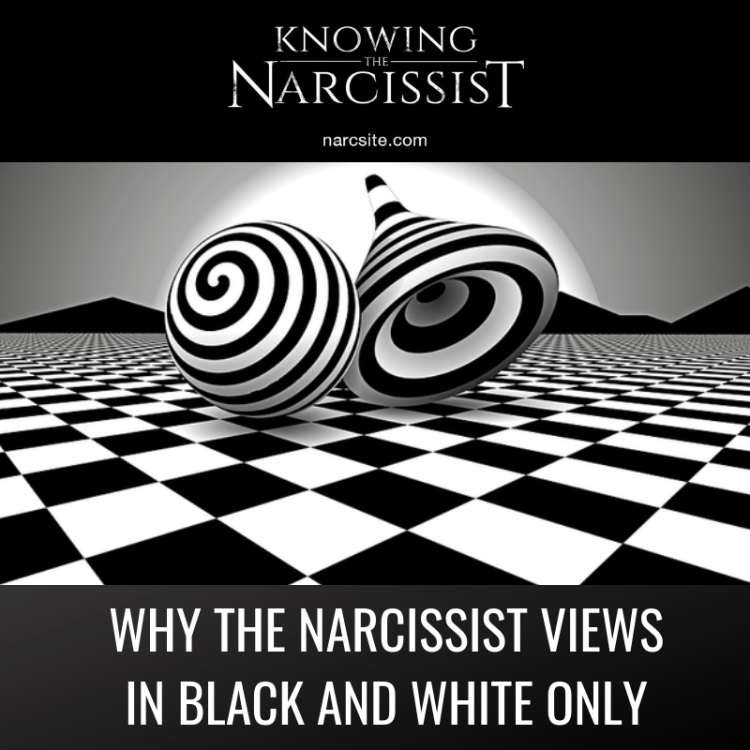 WHY THE NARCISSIST VIEWS IN BLACK AND WHITE ONLY