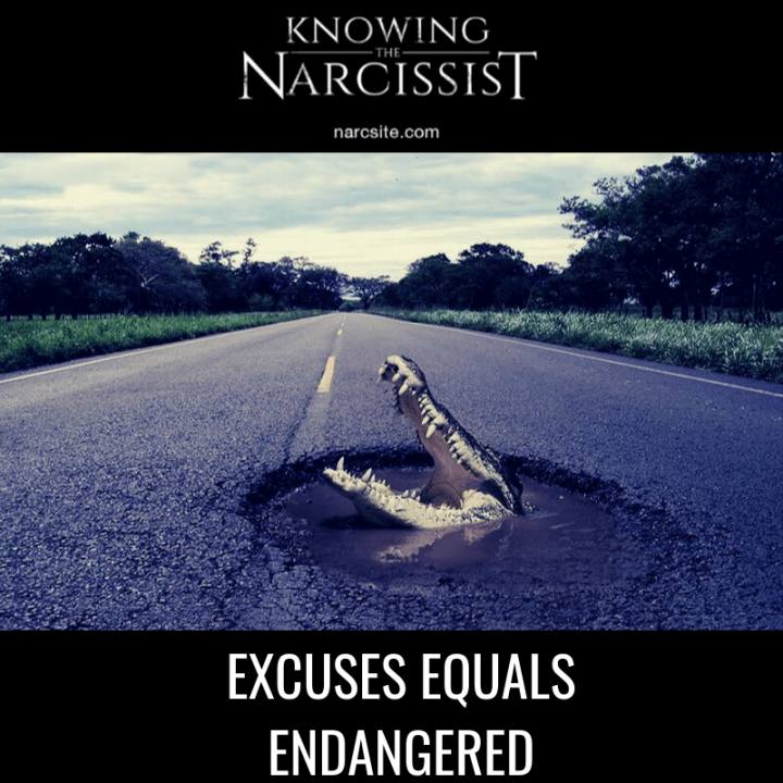 EXCUSES EQUALS ENDANGERED