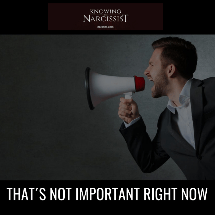 THAT´S NOT IMPORTANT RIGHT NOW