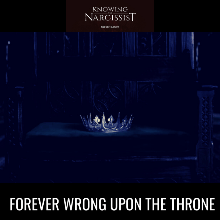 FOREVER WRONG UPON THE THRONE