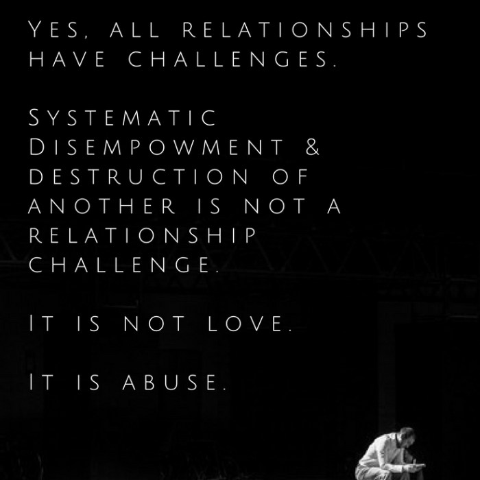love is not abuse