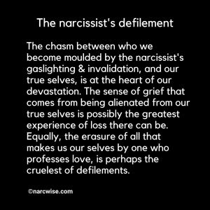 The narcissist's defilement