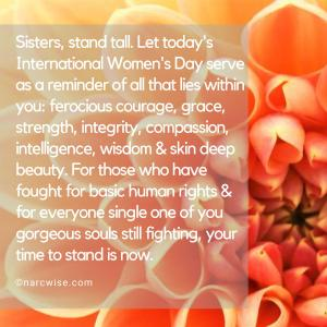 Stand tall sisters