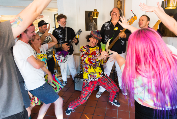 "Nardwuar and The Evaporators shooting the ""Eat to Win"" video ! Liberty Bakery, Vancouver BC Canada! (Pic by William Jans)"