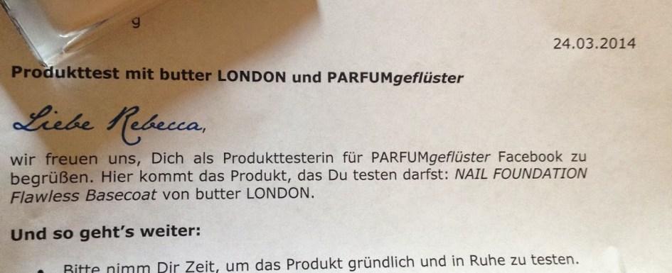 *Werbung* Produkttest Butter London Nail Foundation 20