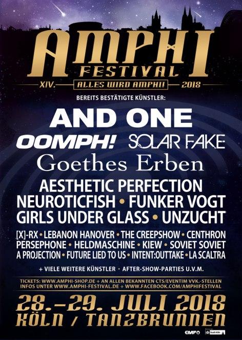 Amphi Festival 2018 - weitere Bands bestätigt 2