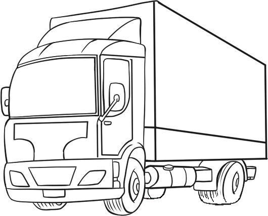 Pasul 3, folosind conducătorul, trageți colțurile compartimentului de marfă. Acum trageți parbrizul, ușa și oglinda laterală.