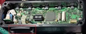03 FTM-10S フロントパネルオプションプラグ取付部