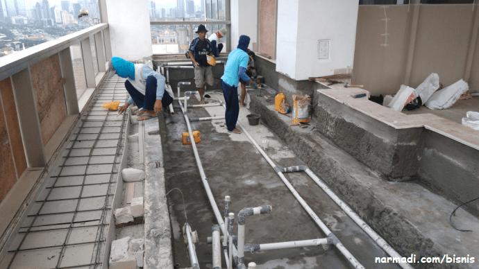 waterproofing tahap pertama
