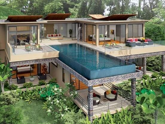 Contoh Desain Kolam Renang di Lantai 2 Outdoor 4