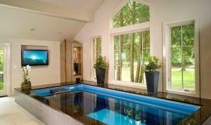 kolam renang minimalis dalam rumah