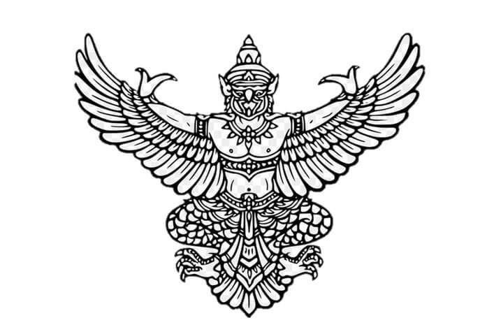 sketsa burung garuda
