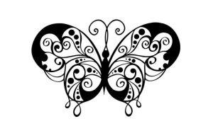 sketsa gambar kupu kupu terbang