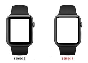 Apple Watch 4 - display comparison