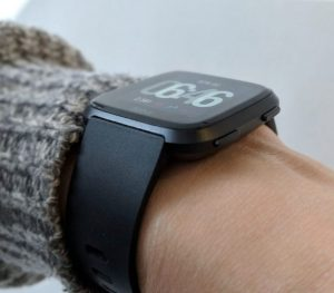 Fitbit Versa Watch from the Side