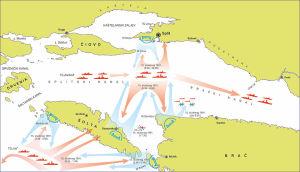 Boj u Splitskom kanalu,  ilustracija: Mjurin