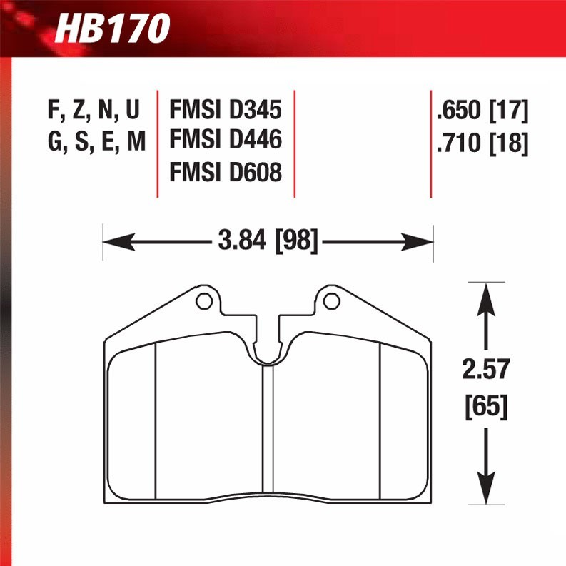 Hawk Performance HB141V.650 Front Disc Brake Pad/Rear Brake Kits ...