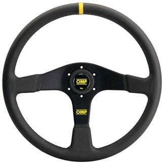 OMP Velocita 380 Steering Wheel - Black Leather