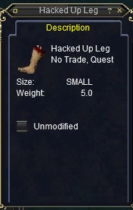 hacked leg
