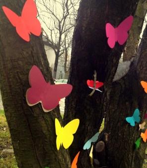 Zimowe motyle na rogu Dekerta