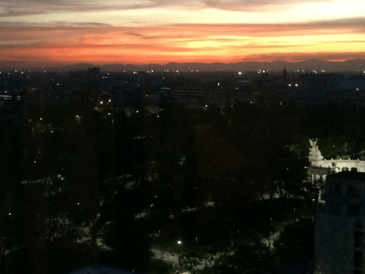 Dawn over Mexico City, 19th May 2014