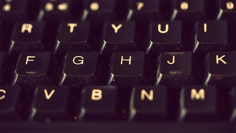 L'image montre les touches d'un clavier afin d'illustrer la méthode proposer dans cette première partie: apprendre à écrire vite au clavier.