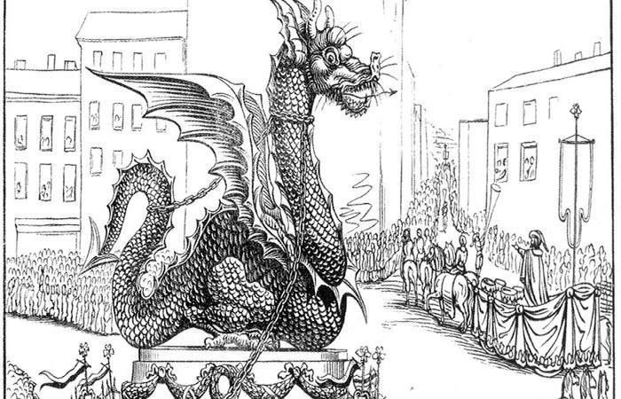 Une image du Graoully, un dragon à pattes courtes
