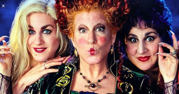 L'image représente les 3 sorcières du film Hocus Pocus. Une brune, une rousse, une blonde au look improbable. C'est un film que je conseille dans ma sélection de films pour Halloween