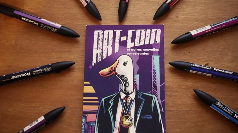 Livre Art-coin et autres nouvelles renversantes de Sophie Gauthier du blog contentologue