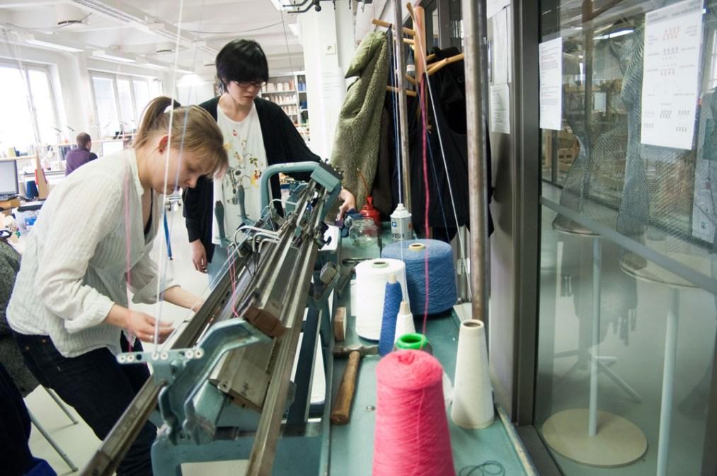 Knitting with conductive yarn