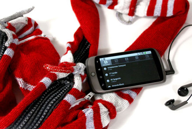 Music sleeve is a fabric music controller for your smart phone