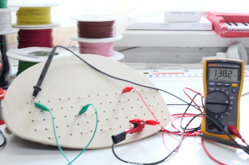 Checked to make sure the metal wires were well-connected to the conductive felts.