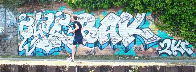 Graffiti 17 - blue wall with runner