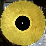 Amber Vinyl with etching